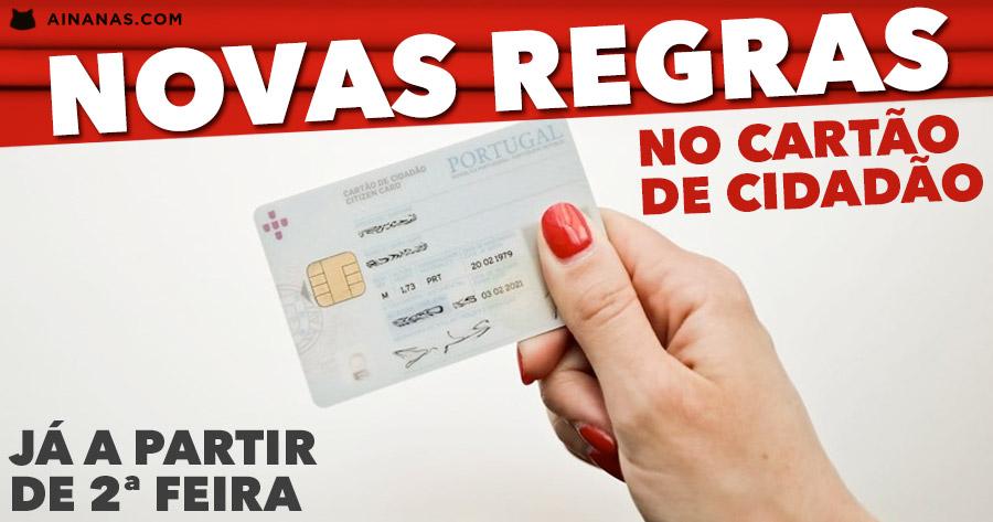 CARTÃO DE CIDADÃO com novas regras a partir de segunda feira