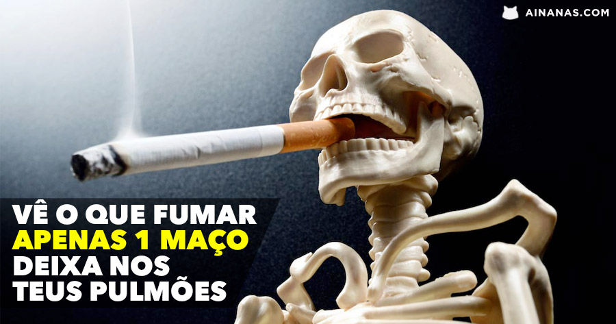 Vê o que acontece aos teus pulmões quando fumas