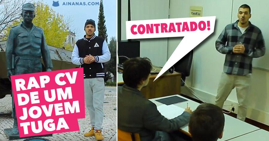 Também um Jovem Português fez CURRICULO em Versão RAP