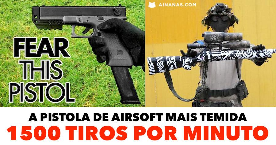 A pistola de Airsoft mais Temida: 1500 tiros por minuto!