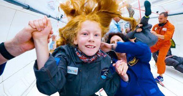Agencia Espacial Europeia levou 8 crianças com deficiência a voar em GRAVIDADE ZERO