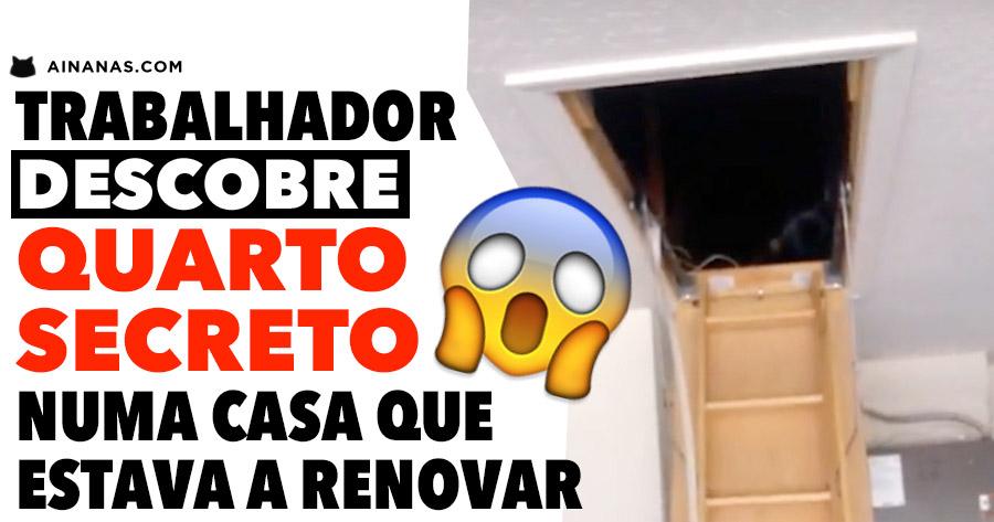 Trabalhador descobre QUARTO SECRETO numa casa que estava a renovar