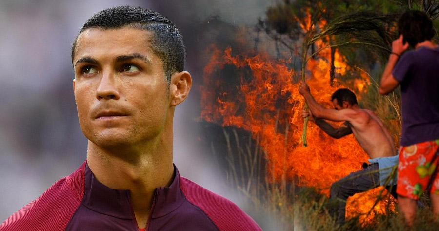 Cristiano Ronaldo pagou Atendimento Médico de 370 feridos nos Incêndios