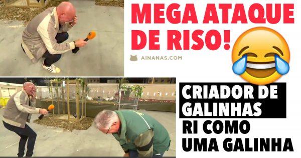 ATAQUE DE RISO: Criador de Galinhas Ri como uma Galinha