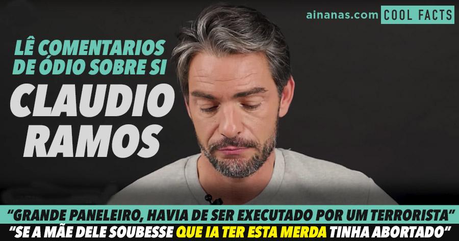 CLAUDIO RAMOS lê os comentários de ódio sobre si na Internet