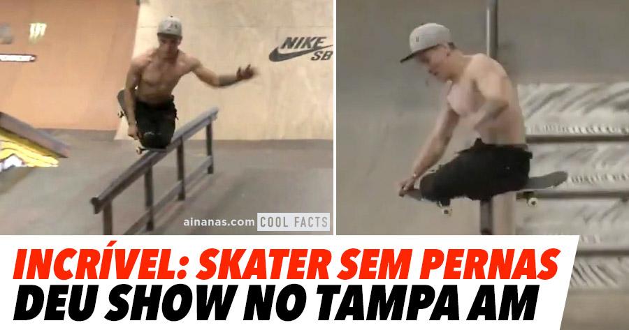 Tony Hawk apoia Skater SEM PERNAS.. e ele corresponde!