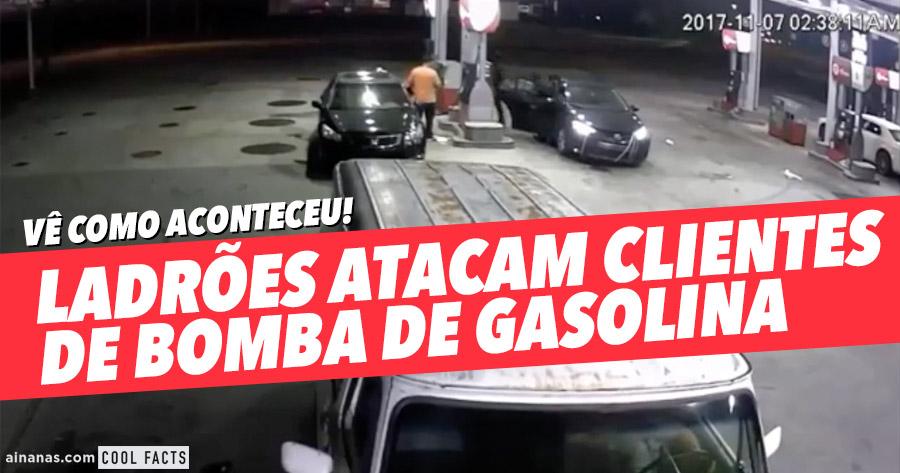 Ladrões Atacam Clientes de Bomba de Gasolina