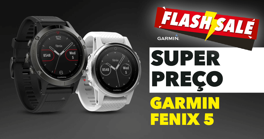 Super oportunidade no GARMIN FENIX 5 Smartwatch com GPS