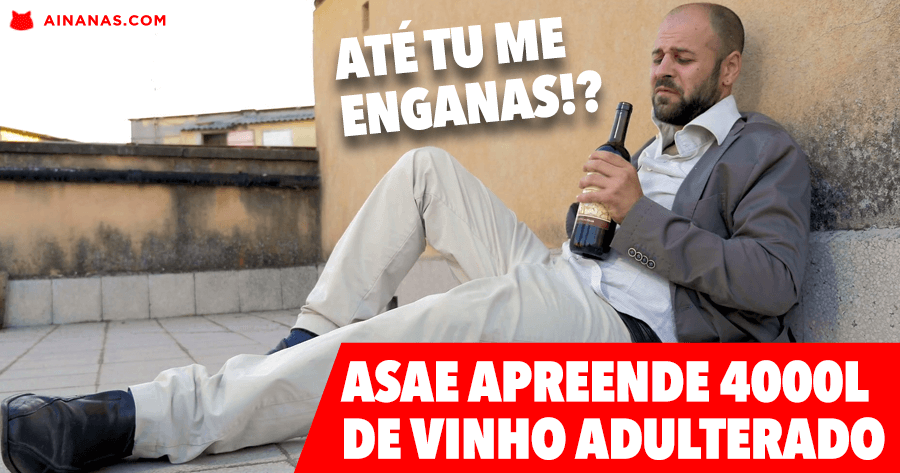 4000 Litros de Vinho Adulterado apreendidos pela ASAE