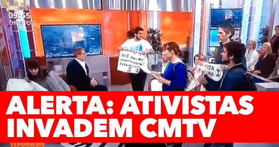 Ativistas INVADEM PROGRAMA da CMTV