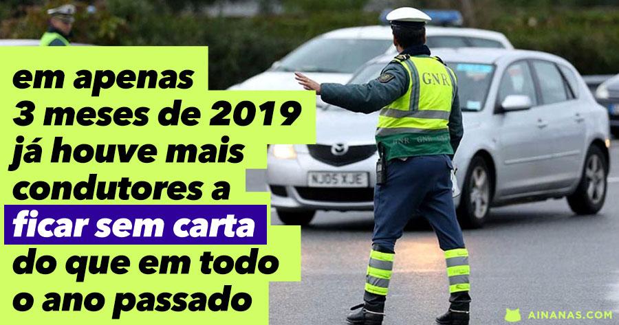 Já houve mais pessoas a ficar sem carta este ano do que em TODO O ANO de 2018