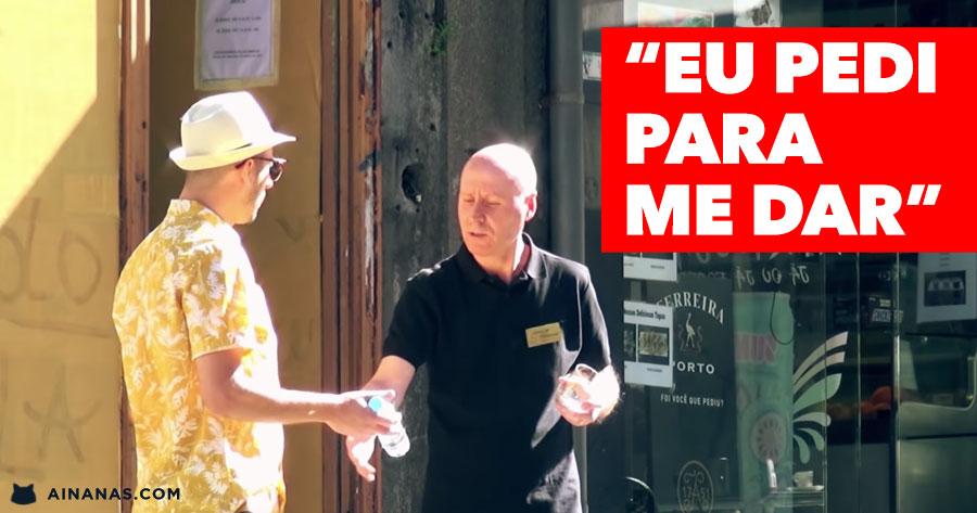 PIERRE ZAGO tenta sacar cenas sem pagar em