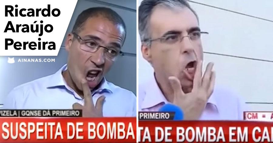 Ricardo Araújo Pereira recria Entrevista Bizarra da CMTV