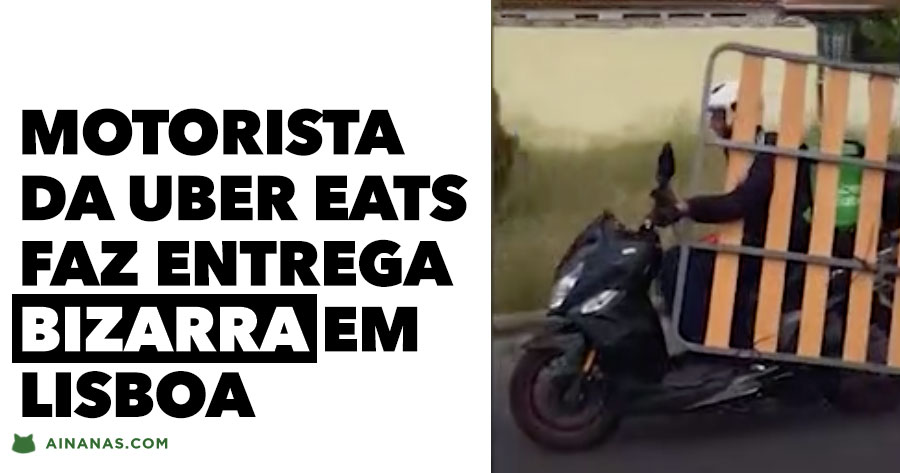 Motorista da UBER EATS filmado em situação bizarra em LISBOA