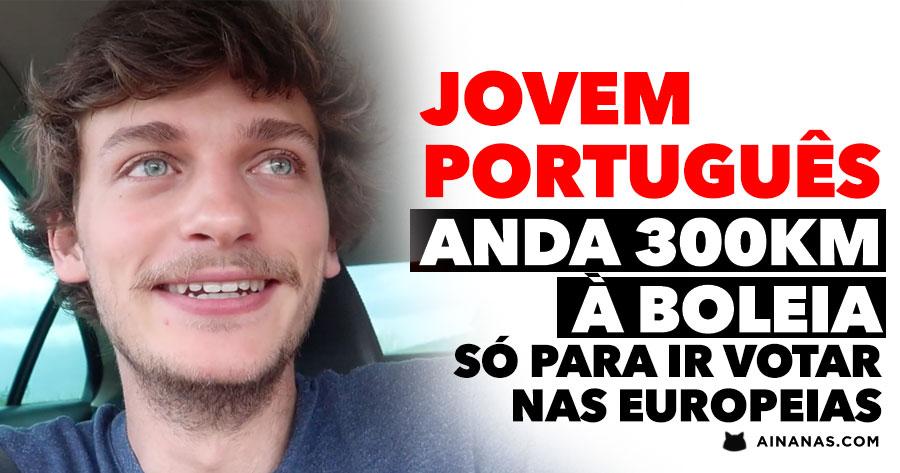 Jovem Português anda 300KM À BOLEIA só para ir votar nas Europeias