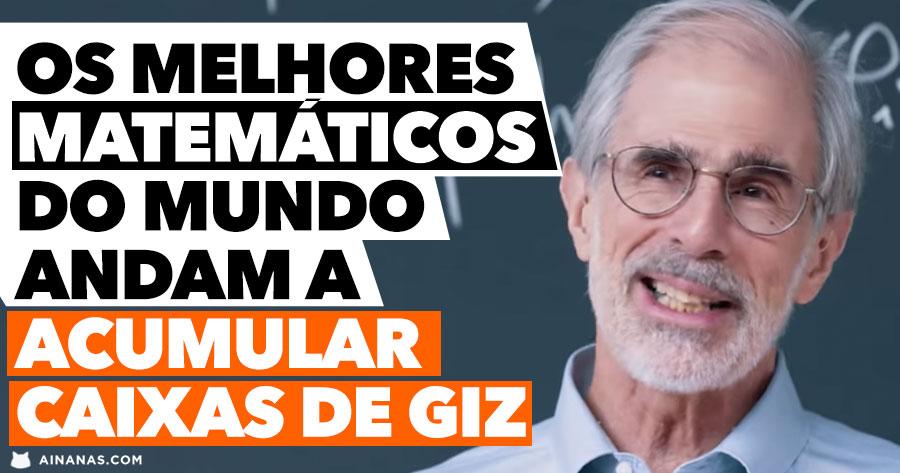 Os melhores matemáticos do mundo estão a ACUMULAR CAIXAS DE GIZ