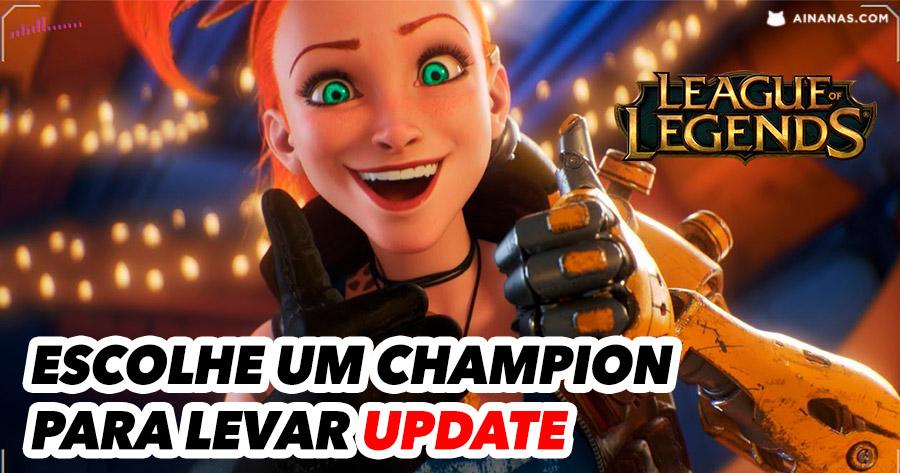 Escolhe um Champion de League of Legends para levar update em 2020