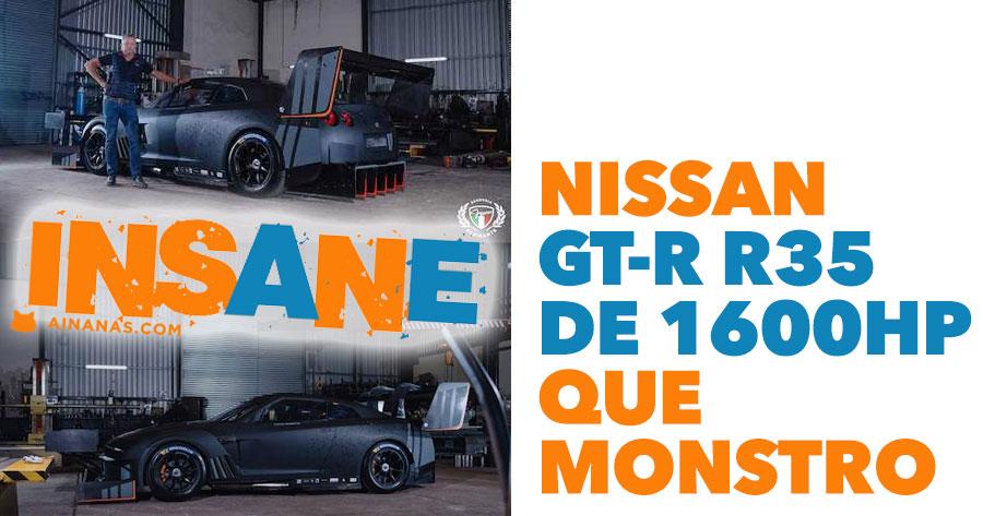 Nissan GT-R R35 de 1600HP é um verdadeiro MONSTRO