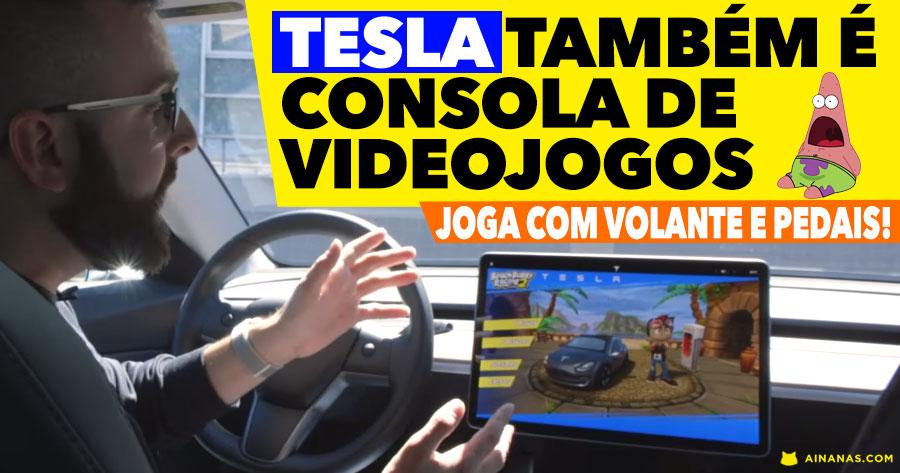 GENIAL: Os Teslas agora também são consolas de videojogos
