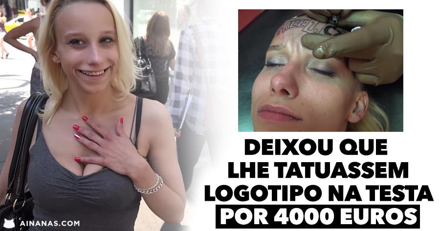 Rapariga deixa que lhe tatuem logotipo na testa por 4000 euros