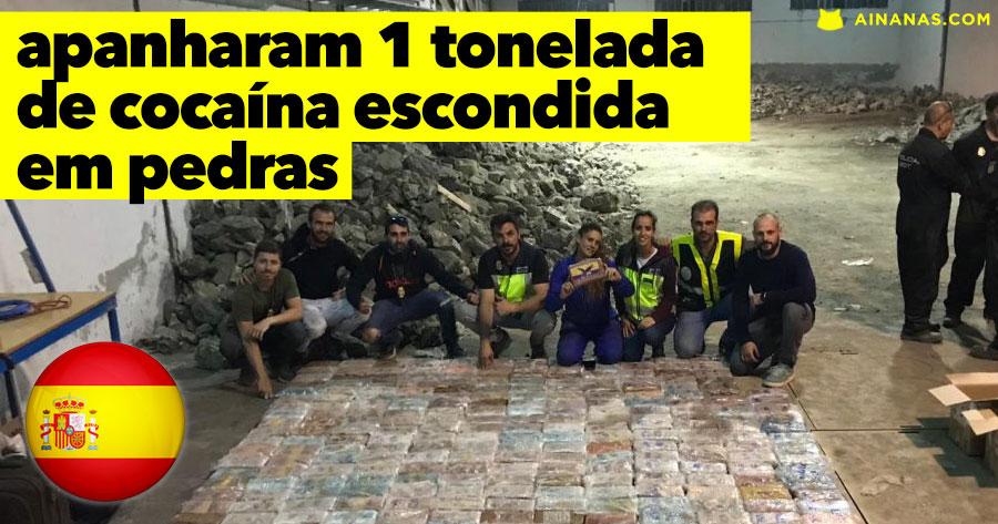 Polícia interceptou 1 TONELADA de Cocaína Escondida em Pedras