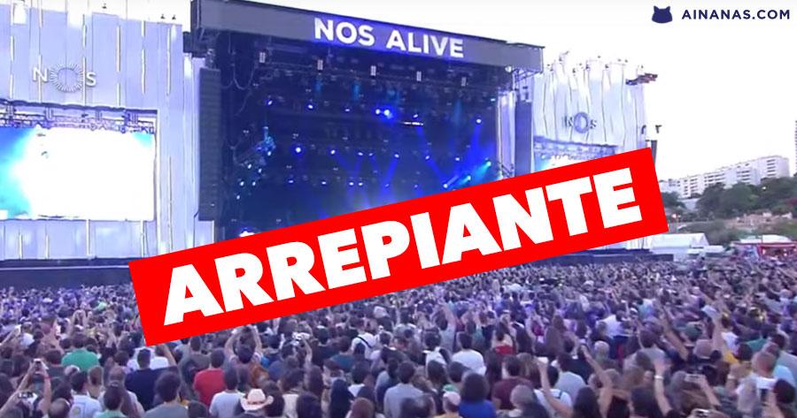 ARREPIANTE: multidão no NOS ALIVE canta Ornatos Violeta a uma só voz