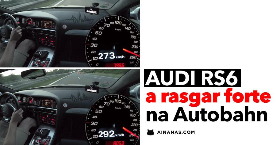 AUDI RS6 (C6) de 811HP a rasgar forte na Autobahn