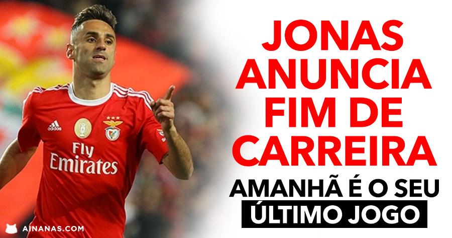 Jonas anuncia FIM DE CARREIRA e despede-se dos Benfiquistas