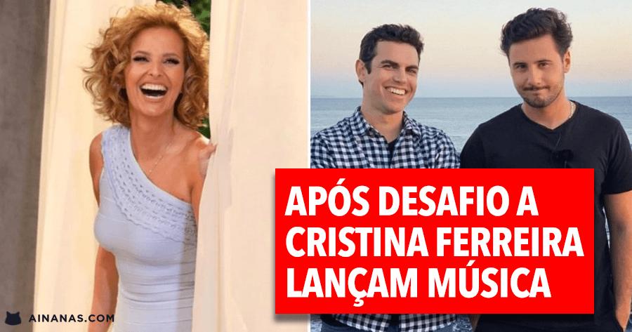 CARLOS COUTINHO VILHENA e JOÃO ANDRÉ lançam música após desafio a CRISTINA FERREIRA