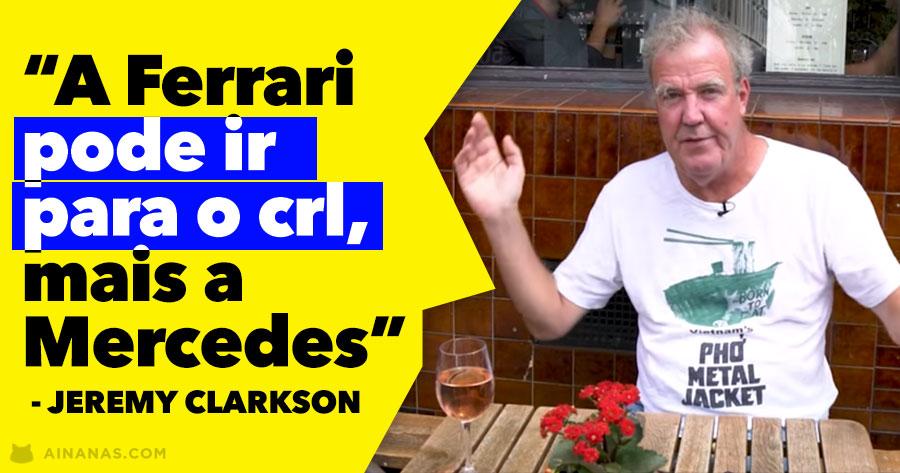 JEREMY CLARKSON explica sem papas na língua o que está errado na F1