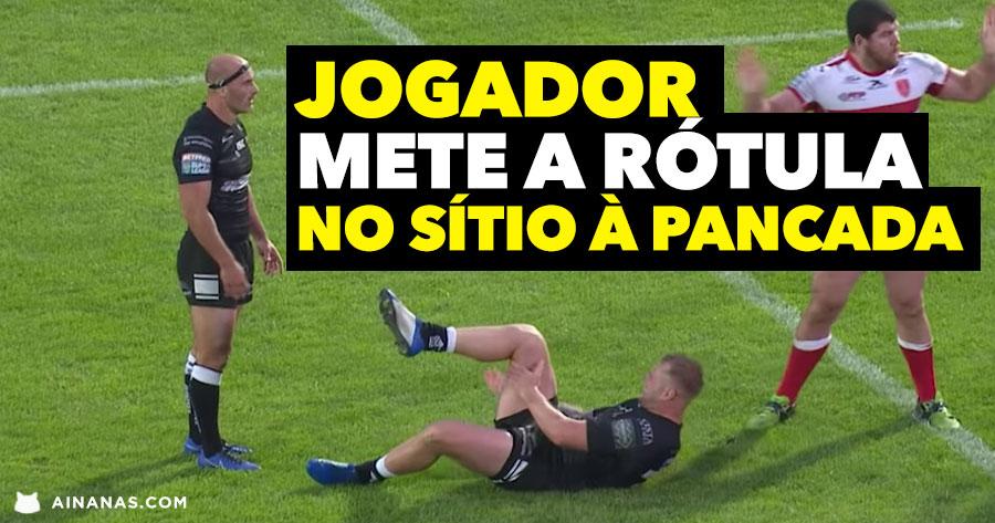 Jogador de Rugby METE O JOELHO NO SÍTIO à pancada