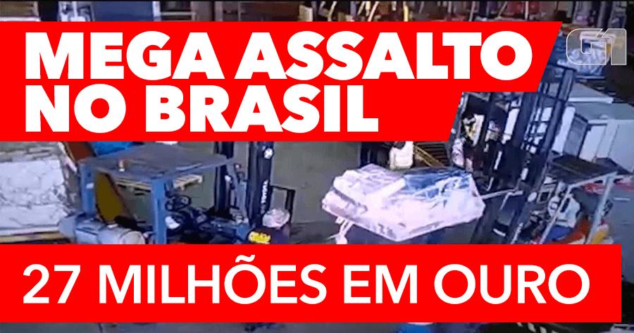 MEGA ROUBO de mais de 27 milhões de euros no brasil