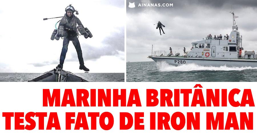 Marinha Britânica testa fato de IRON MAN