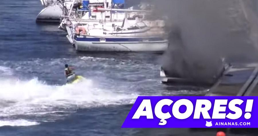 MOTA DE ÁGUA apaga incêndio nos Açores