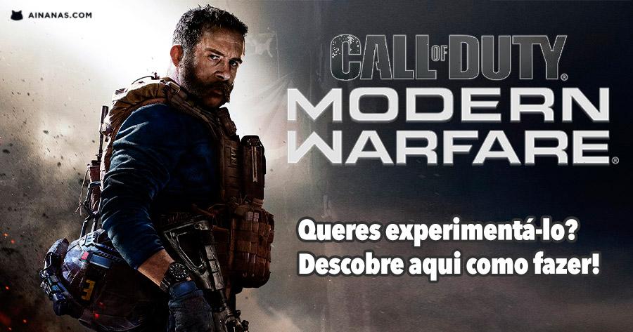 Queres experimentar o novo Call of Duty?