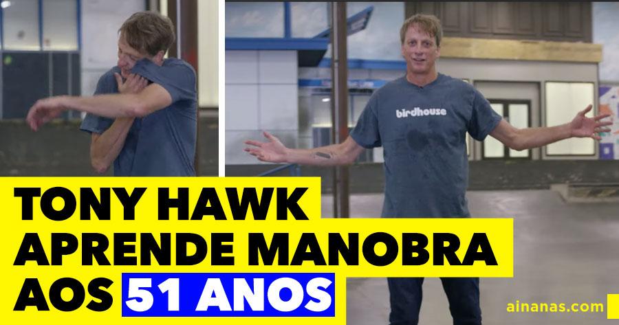 TONY HAWK aprende manobra aos 51 anos