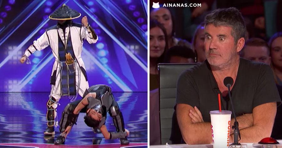 MORTAL KOMBAT deu show no Got Talent