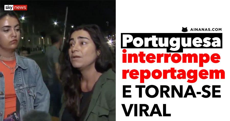 Portuguesa INTERROMPE REPORTAGEM e torna-se viral
