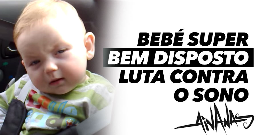 Bebé MUITO bem disposto luta contra o sono
