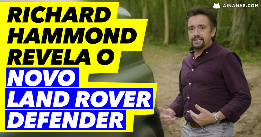 Richard Hammond revela o novo Land Rover Defender