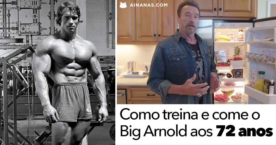Arnold Schwarzenegger no melhor GYM and FRIDGE de Sempre