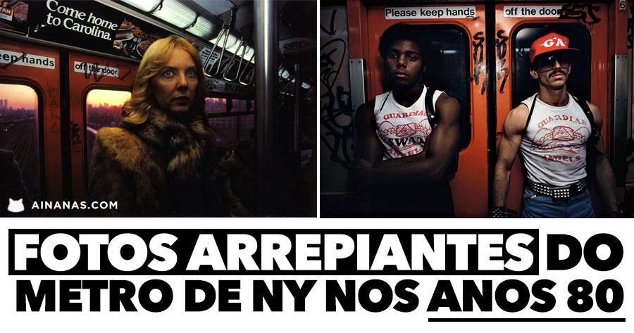 Fotos ARREPIANTES do Metro de Nova York nos Anos 80