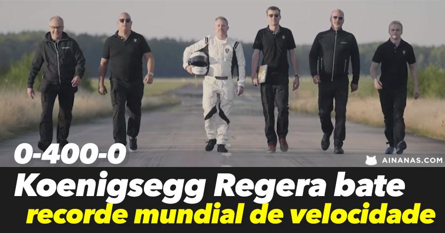Koenigsegg BATE NOVO RECORDE mundial de velocidade
