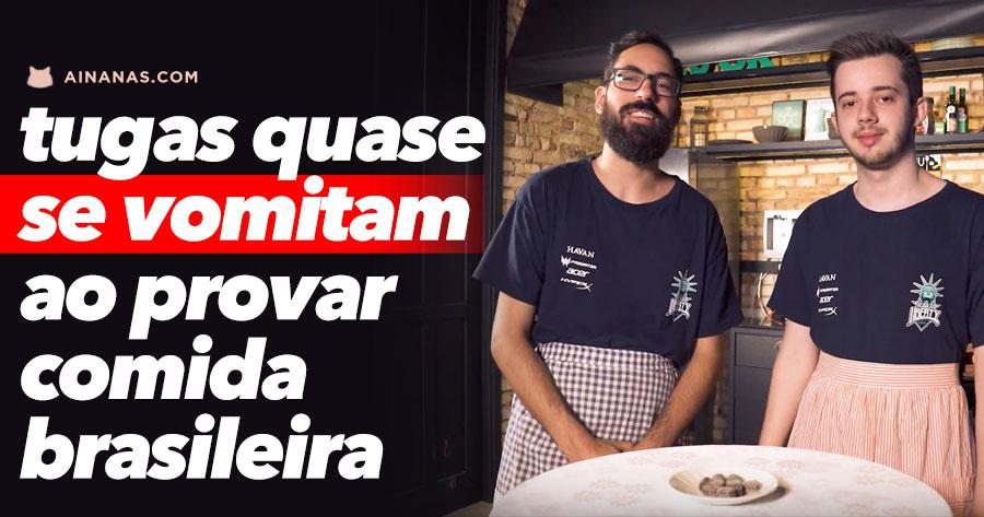 Tugas QUASE SE VOMITAM ao provar comida brasileira