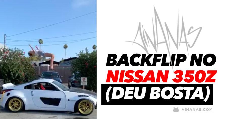 Ginasta trapalhona escangalha Nissan 350z
