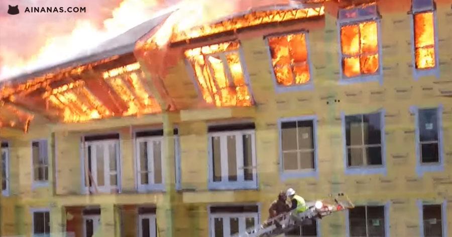 Trabalhador salvo pelos bombeiros no ÚLTIMO MOMENTO