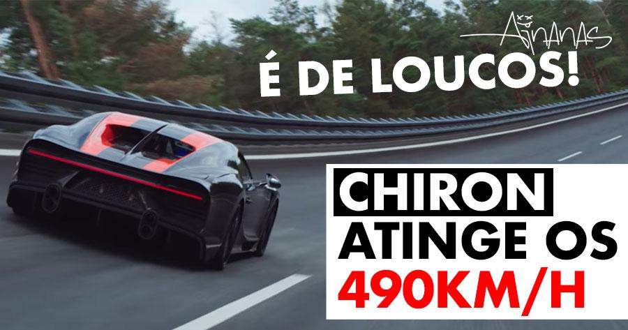 SURREAL: Bugatti voa baixinho a 490km/h
