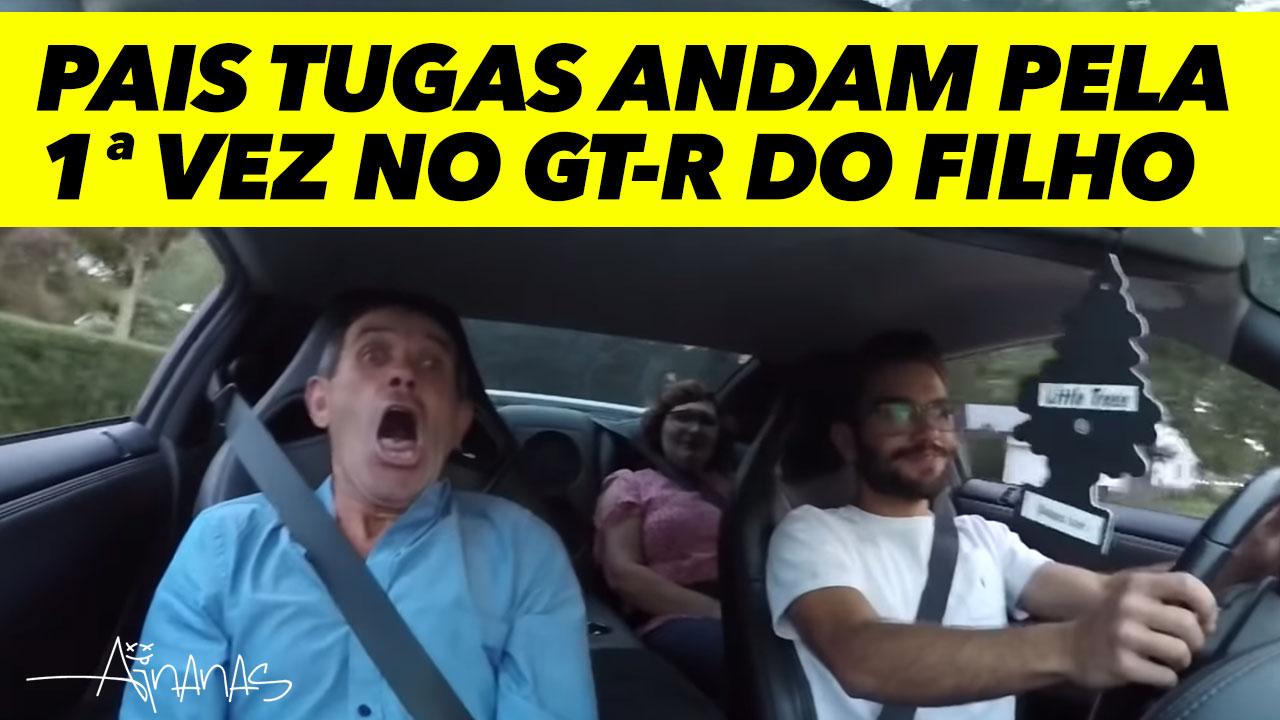 PAIS TUGAS andam pela 1ª vez no NISSAN GT-R do Filho