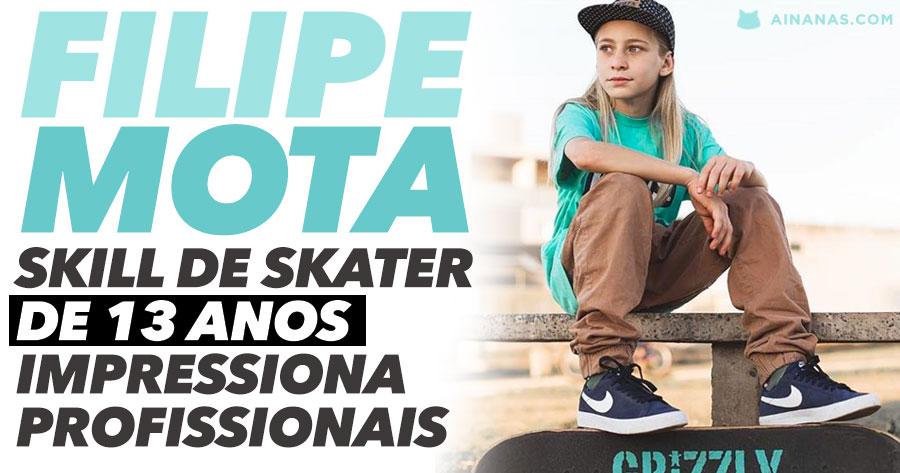 FILIPE MOTA aos 13 ANOS já impressiona no Skate