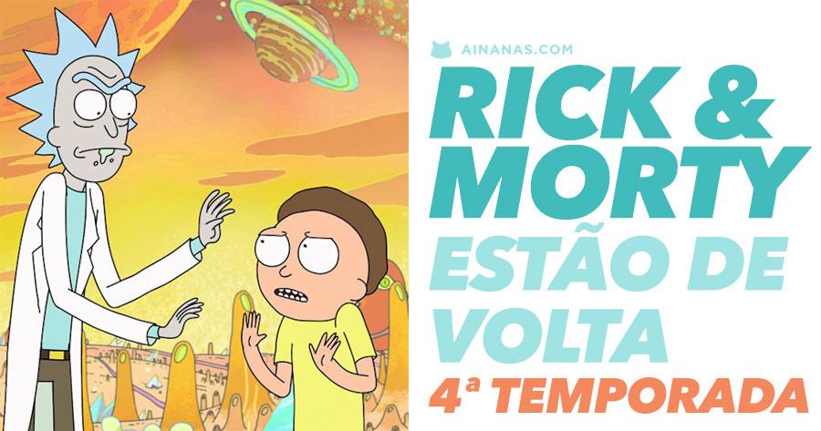 RICK & MORTY estão de regresso para a 4ª temporada!